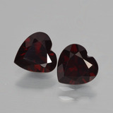 thumb image of 1.7ct Heart Facet Deep Red Pyrope Garnet (ID: 456452)