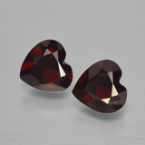 thumb image of 1.8ct Heart Facet Deep Red Pyrope Garnet (ID: 456456)
