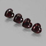 thumb image of 3.5ct Heart Facet Deep Red Pyrope Garnet (ID: 456483)