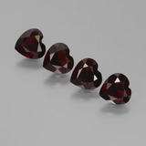 thumb image of 2.9ct Heart Facet Deep Red Pyrope Garnet (ID: 456484)