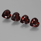 thumb image of 0.8ct Heart Facet Deep Red Pyrope Garnet (ID: 456485)