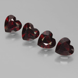 thumb image of 0.8ct Heart Facet Blackish Red Pyrope Garnet (ID: 456486)