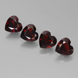 thumb image of 3.2ct Heart Facet Deep Red Pyrope Garnet (ID: 456491)