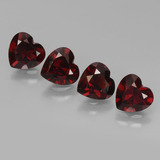 thumb image of 3.3ct Heart Facet Deep Red Pyrope Garnet (ID: 456492)