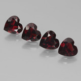 thumb image of 3.2ct Heart Facet Deep Red Pyrope Garnet (ID: 456494)