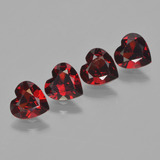 thumb image of 3ct Heart Facet Red Pyrope Garnet (ID: 456522)