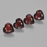 thumb image of 2.8ct Heart Facet Red Pyrope Garnet (ID: 456523)