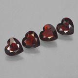 thumb image of 2.8ct Heart Facet Red Pyrope Garnet (ID: 456525)