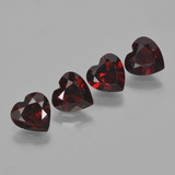 thumb image of 3ct Heart Facet Deep Red Pyrope Garnet (ID: 456526)