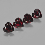 thumb image of 3ct Heart Facet Deep Red Pyrope Garnet (ID: 456528)