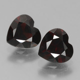 thumb image of 1.8ct Heart Facet Deep Red Pyrope Garnet (ID: 456533)