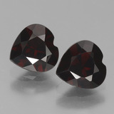 thumb image of 1.7ct Heart Facet Deep Red Pyrope Garnet (ID: 456535)