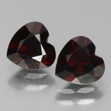 thumb image of 1.9ct Heart Facet Deep Red Pyrope Garnet (ID: 456541)