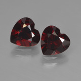 thumb image of 1.8ct Heart Facet Deep Red Pyrope Garnet (ID: 456571)
