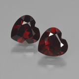 thumb image of 1.9ct Heart Facet Deep Red Pyrope Garnet (ID: 456573)