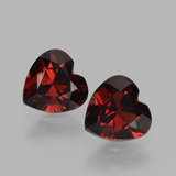 thumb image of 1.7ct Heart Facet Red Pyrope Garnet (ID: 456619)