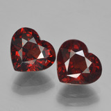 thumb image of 4.2ct Heart Facet Red Pyrope Garnet (ID: 456639)