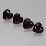 thumb image of 2.9ct Heart Facet Deep Red Pyrope Garnet (ID: 456651)