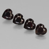 thumb image of 3.3ct Heart Facet Deep Red Pyrope Garnet (ID: 456653)