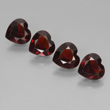 thumb image of 3.1ct Heart Facet Deep Red Pyrope Garnet (ID: 456654)