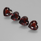 thumb image of 2.8ct Heart Facet Deep Red Pyrope Garnet (ID: 456655)
