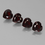 thumb image of 3ct Heart Facet Deep Red Pyrope Garnet (ID: 456657)