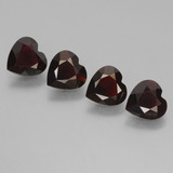 thumb image of 2.8ct Heart Facet Deep Red Pyrope Garnet (ID: 456662)