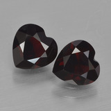 thumb image of 1.6ct Heart Facet Deep Red Pyrope Garnet (ID: 456694)