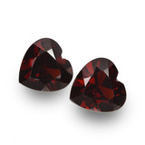 thumb image of 1.8ct Heart Facet Deep Red Pyrope Garnet (ID: 456697)