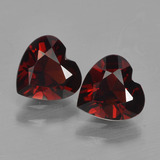 thumb image of 1.7ct Heart Facet Red Pyrope Garnet (ID: 456698)