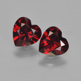 thumb image of 1.6ct Heart Facet Red Pyrope Garnet (ID: 456699)