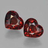 thumb image of 3.5ct Heart Facet Red Pyrope Garnet (ID: 456741)