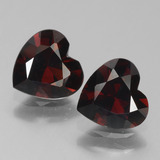 thumb image of 1.6ct Heart Facet Deep Red Pyrope Garnet (ID: 456762)