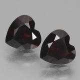 thumb image of 1ct Heart Facet Dark Red Pyrope Garnet (ID: 456766)