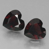 thumb image of 1.8ct Heart Facet Deep Red Pyrope Garnet (ID: 456768)
