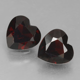 thumb image of 0.8ct Heart Facet Deep Red Pyrope Garnet (ID: 456770)