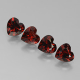thumb image of 3.5ct Heart Facet Red Pyrope Garnet (ID: 456793)