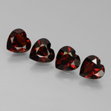 thumb image of 0.8ct Heart Facet Red Pyrope Garnet (ID: 456794)