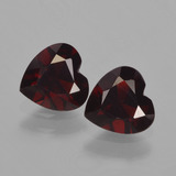 thumb image of 1.6ct Heart Facet Red Pyrope Garnet (ID: 457000)
