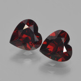thumb image of 1.7ct Heart Facet Red Pyrope Garnet (ID: 457002)