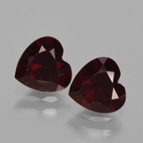 thumb image of 1ct Heart Facet Deep Red Pyrope Garnet (ID: 457006)