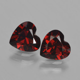 thumb image of 1.6ct Heart Facet Red Pyrope Garnet (ID: 457007)