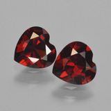 thumb image of 1.6ct Heart Facet Red Pyrope Garnet (ID: 457009)