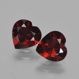 thumb image of 1.6ct Heart Facet Red Pyrope Garnet (ID: 457011)