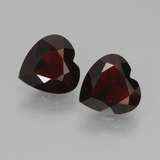 thumb image of 1.6ct Heart Facet Deep Red Pyrope Garnet (ID: 457013)