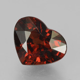thumb image of 2ct Heart Facet Red Pyrope Garnet (ID: 457039)