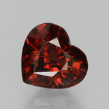 thumb image of 1.9ct Heart Facet Red Pyrope Garnet (ID: 457047)