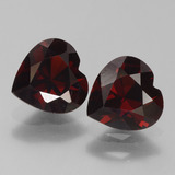 thumb image of 1.6ct Heart Facet Deep Red Pyrope Garnet (ID: 457134)