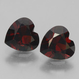 thumb image of 0.9ct Heart Facet Deep Red Pyrope Garnet (ID: 457139)