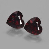 thumb image of 0.9ct Heart Facet Deep Red Pyrope Garnet (ID: 457151)